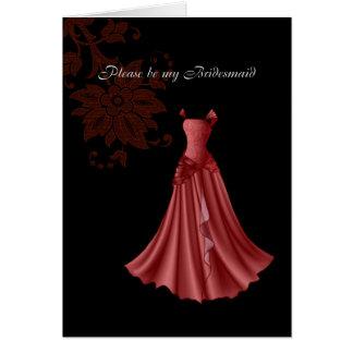 bridesmaid card
