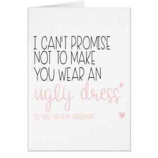 Bridesmaid card, Will you be my bridesmaid, Weddin Card