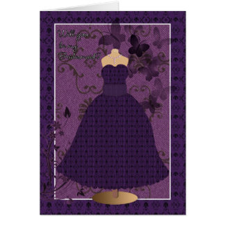 Bridesmaid Card will you be my bridesmaid with lac