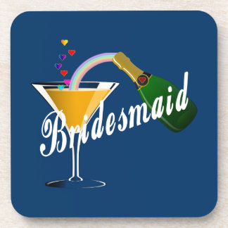 Bridesmaid Champagne Toast Drink Coaster