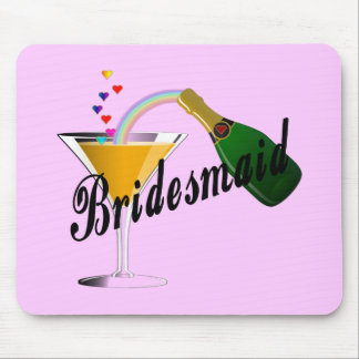 Bridesmaid Champagne Toast Mouse Pads