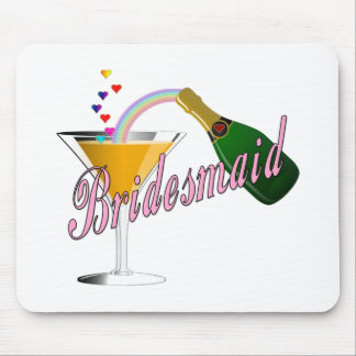 Bridesmaid Champagne Toast Mousepad