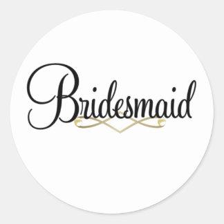 Bridesmaid Classic Round Sticker