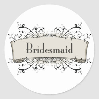 *Bridesmaid Classic Round Sticker