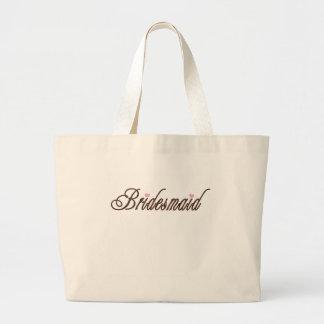 Bridesmaid Classy Browns Large Tote Bag