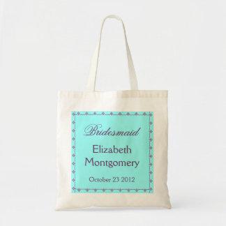 BRIDESMAID Custom Name Wedding Bag Blue and Purple