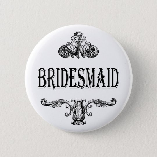 bridesmaid customisable colour button
