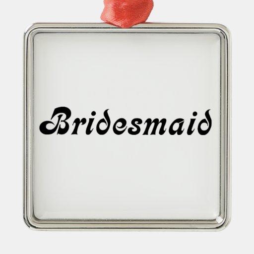 Bridesmaid Christmas Tree Ornaments