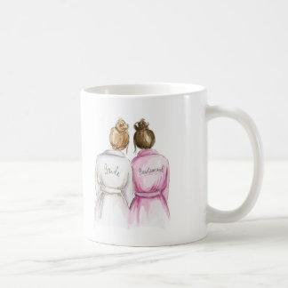 Bridesmaid? Dk Bl Bun Bride Br Bun Maid Coffee Mug