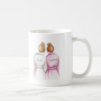 Bridesmaid? Dk Bl Bun Bride Red Bun Maid Coffee Mug