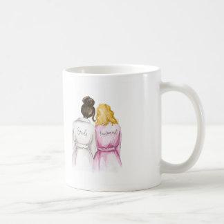 Bridesmaid? Dk Br Bun Bride Dk Bl Waves Maid Coffee Mug