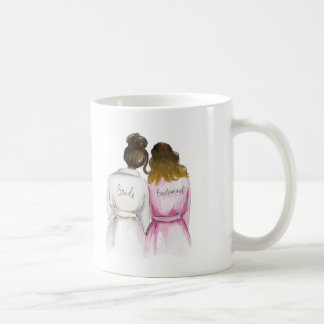 Bridesmaid? Dk Br Bun Bride Ombre Maid Coffee Mug