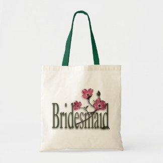 Bridesmaid/ Dogwood Wedding Budget Tote Bag
