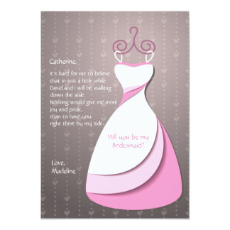 Bridesmaid Dress Card