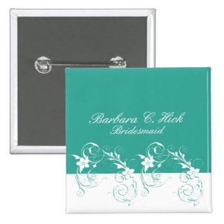 Bridesmaid Elegant wedding 15 Cm Square Badge