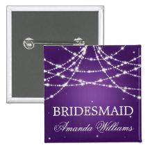 Bridesmaid Favor Sparkling String Purple Pin