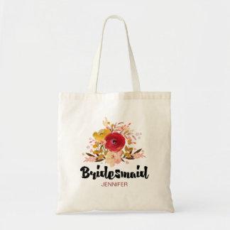 Bridesmaid Floral Watercolor Bouquet Wedding