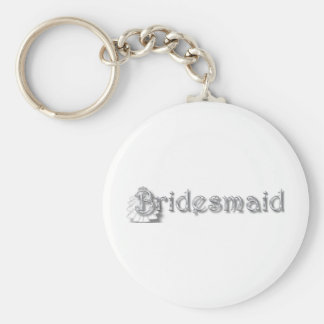 ♥ Bridesmaid  ♥Fun for Bachlorette Party, Shower♥ Basic Round Button Key Ring