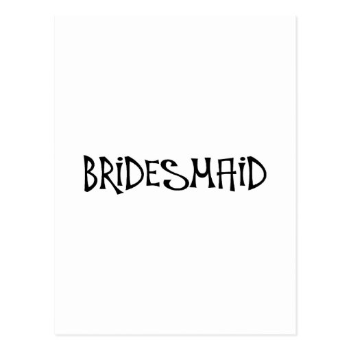 Bridesmaid (Funky) Post Cards