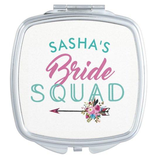 Bridesmaid Gifts Bridal Shower Mirror Bride Squad Travel