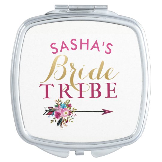 Bridesmaid Gifts Bridal Shower Mirror Bride Tribe Makeup