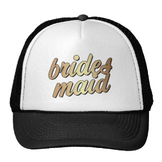 Bridesmaid Gold trucker hat