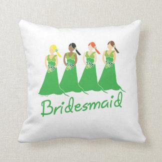 Bridesmaid Green Dress Cushion