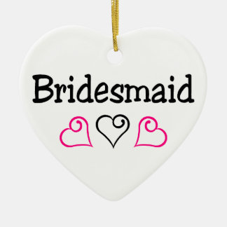 Bridesmaid Hearts Ceramic Heart Decoration