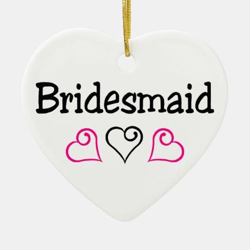 Bridesmaid Hearts Christmas Ornament