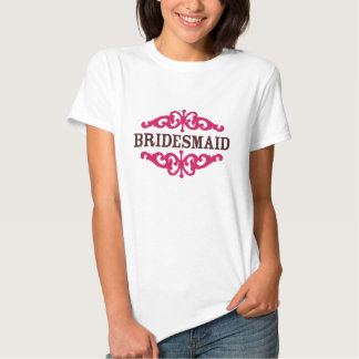 Bridesmaid (Hot Pink & Chocolate Brown) Tees