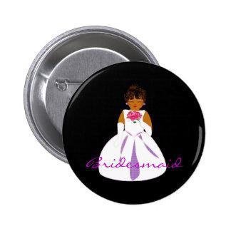 """Bridesmaid II"" Button - Customizable Pin"