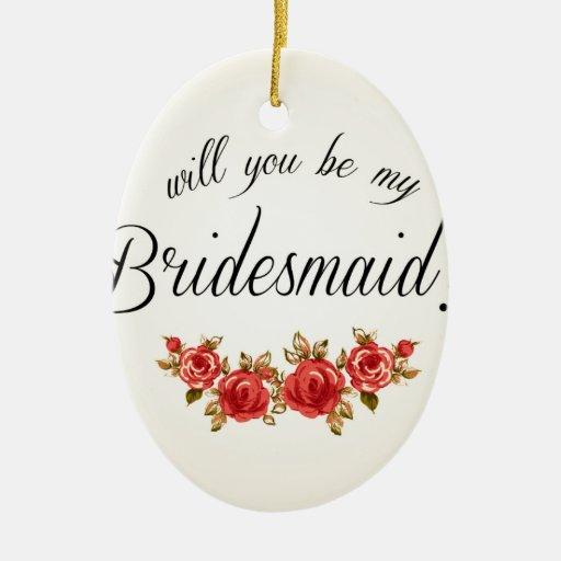 Bridesmaid Invitation Ornaments