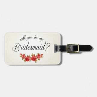 Bridesmaid Invitation Travel Bag Tags