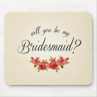 Bridesmaid Invitation Mouse Pad