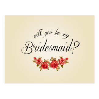 Bridesmaid Invitation Postcard
