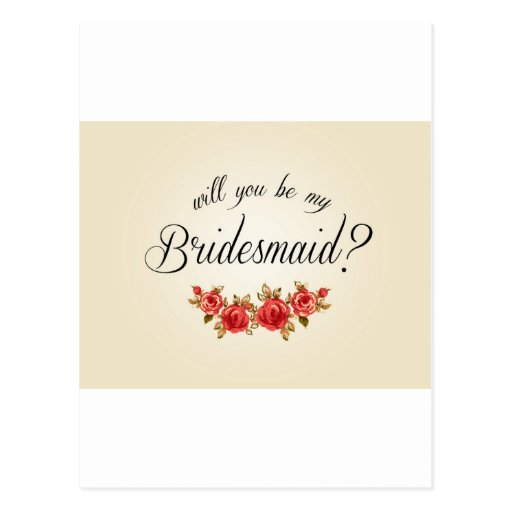 Bridesmaid Invitation Post Cards