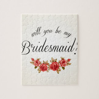 Bridesmaid Invitation Puzzle
