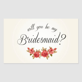 Bridesmaid Invitation Rectangular Sticker
