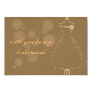 bridesmaid Invitations white envelopes included