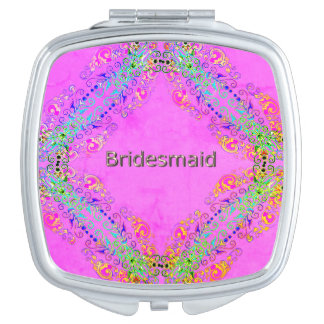 Bridesmaid-La-Magical-Pink-Lace-Multi- Shapes Mirrors For Makeup