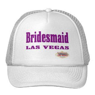 Bridesmaid Las Vegas Cap Mesh Hats