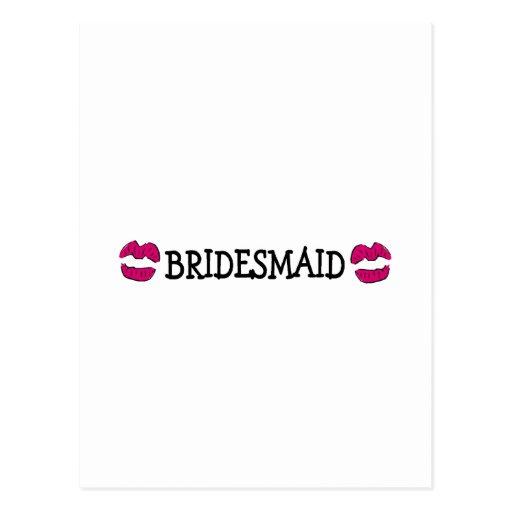 Bridesmaid Lips Postcards