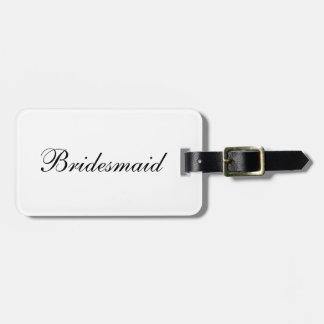 """Bridesmaid"" Luggage Tag"