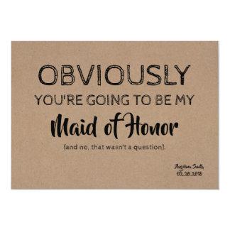 Bridesmaid / Maid of Honor Funny Cute Card