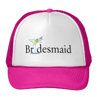 Bridesmaid Martini Black Cap