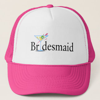Bridesmaid Martini Black Trucker Hat