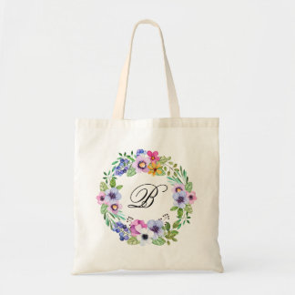 Bridesmaid Monogram Gift Wedding Party Present Tote Bag