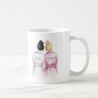 Bridesmaid? Mug Black Bun Bride Blonde Maid
