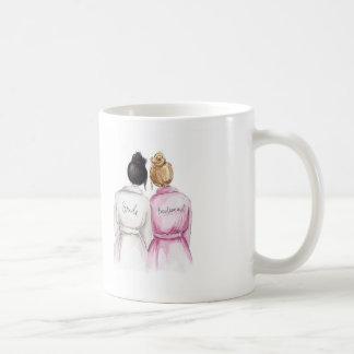 Bridesmaid? Mug Black Bun Bride Dark Blonde Maid