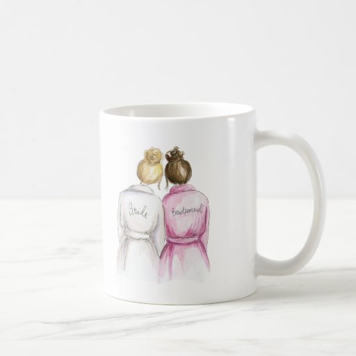 Bridesmaid? Mug Blonde Bride Brunette Maid
